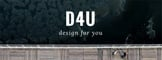 Design for You (D4U)的LOGO