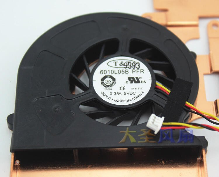 原裝T&T 6010L05B PFR 0.35A 5V 筆記本散熱風扇