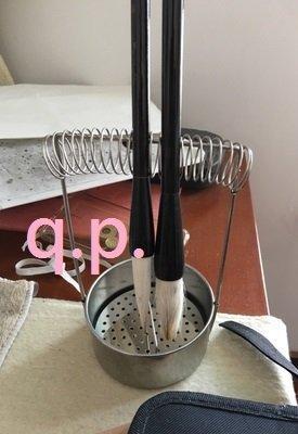 不鏽鋼 diy組裝 立桿水槽 彈簧筆架 盛裝瀝水器皿 油畫洗筆器 洗筆筒 畫筆 毛筆 洗筆罐 水彩工具 洗筆桶 刷具清潔