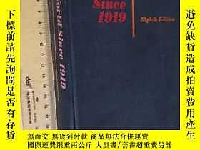 古文物英文原版罕見the world since 1919(8th Revised edition)露天7215 wal