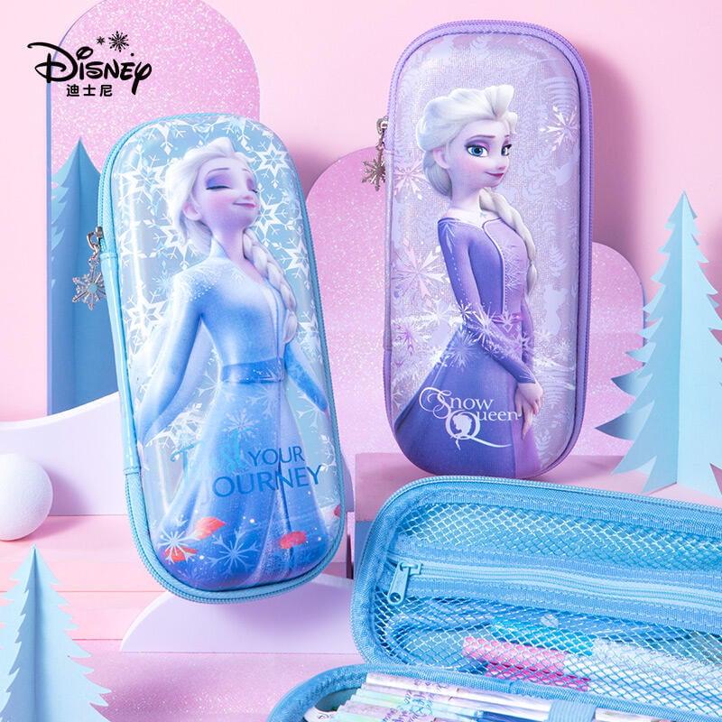 迪士尼筆袋女小學生文具盒大容量可愛創意愛莎多功能女童女生女孩網紅ins少女心學習用品艾莎冰雪奇緣鉛筆盒