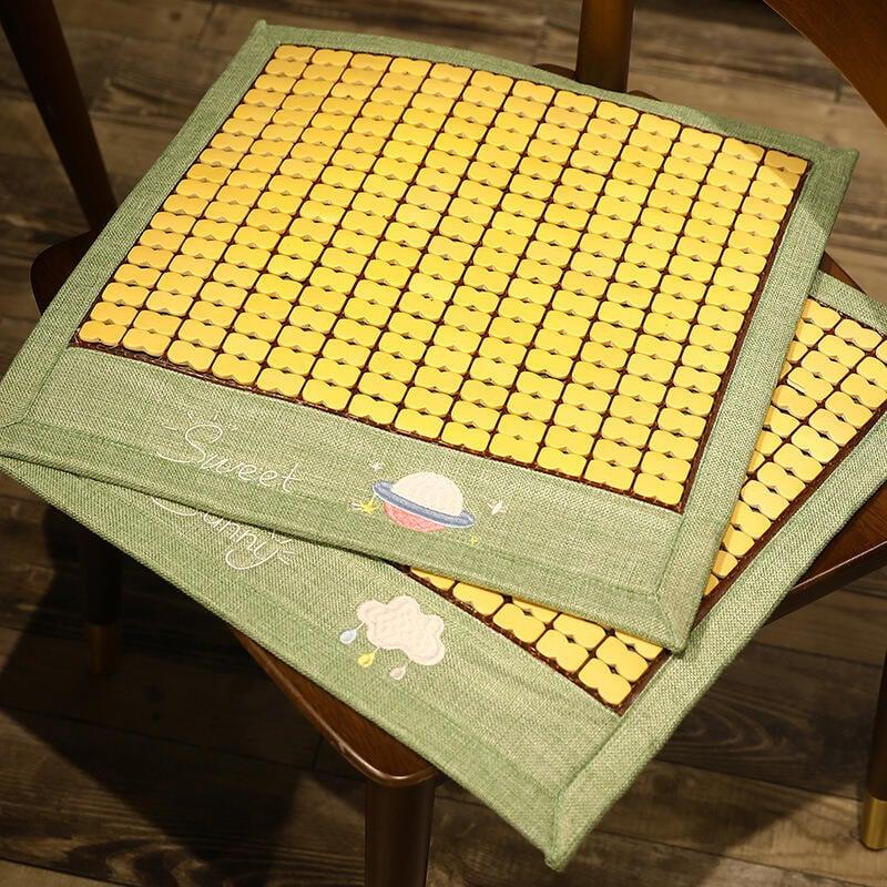 夏季麻將涼蓆竹墊椅墊夏天辦公室透氣椅子久坐墊學生涼墊凳子座墊