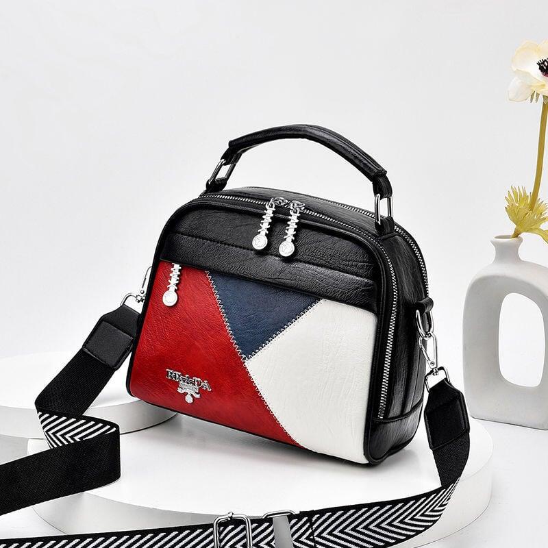 女士時尚精品包 【蔻頓】小包包女2020新款高級感拼色手提包時尚斜挎包百搭單肩潮