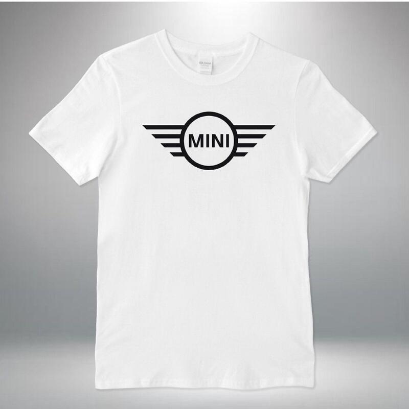 Mini Cooper 新款休閒男士T恤圓領襯衫白色棉質上衣