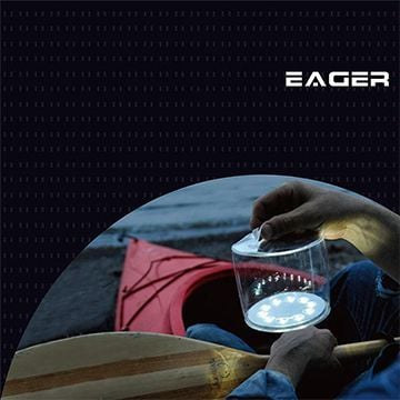 【PChome 24h購物】 EAGER 充氣式防水太陽能LED燈(透明) DEBQ65-A9006QO42