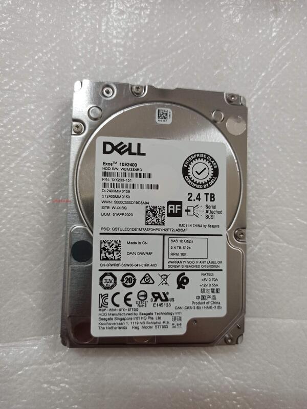 現貨DELL戴爾2.4T 10K 2.5寸SAS ST2400MM0159 0RWR8F 服務器硬盤