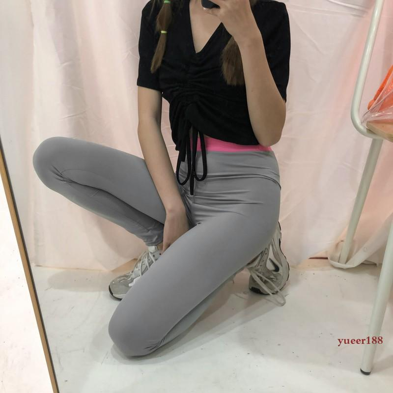 LAZYS夏季外穿薄款運動緊身褲女最時尚流行款時尚流行款高腰顯瘦安全打底小腳褲