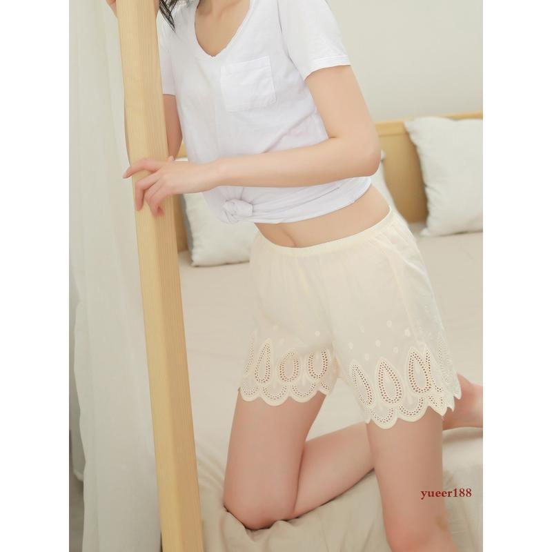 包臀性感安全褲女蕾絲防走光純棉不卷邊網紅同款打底褲長款寬松大碼可外穿