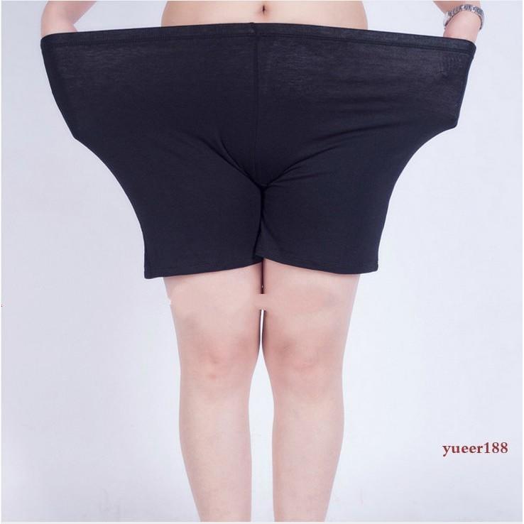 250斤超肥特大碼女褲胖妹妹200斤夏季高彈力打底短褲防走光包臀性感安全褲