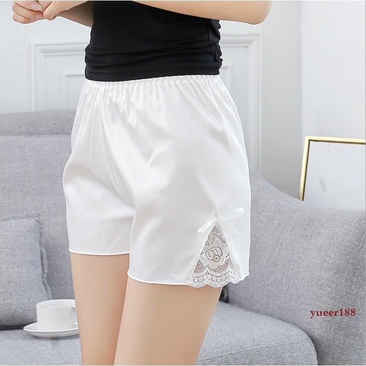 【大婷優選定制】兩條裝仿真絲包臀性感安全褲