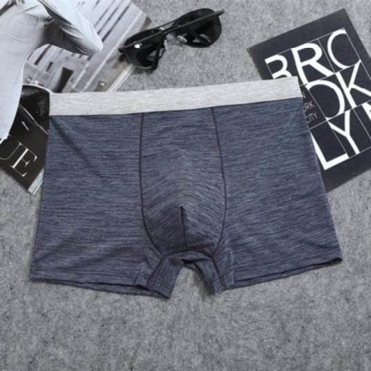 青少年男孩速干內褲一條裝男休閑褲頭夏天新款大號內衣褲黑色。