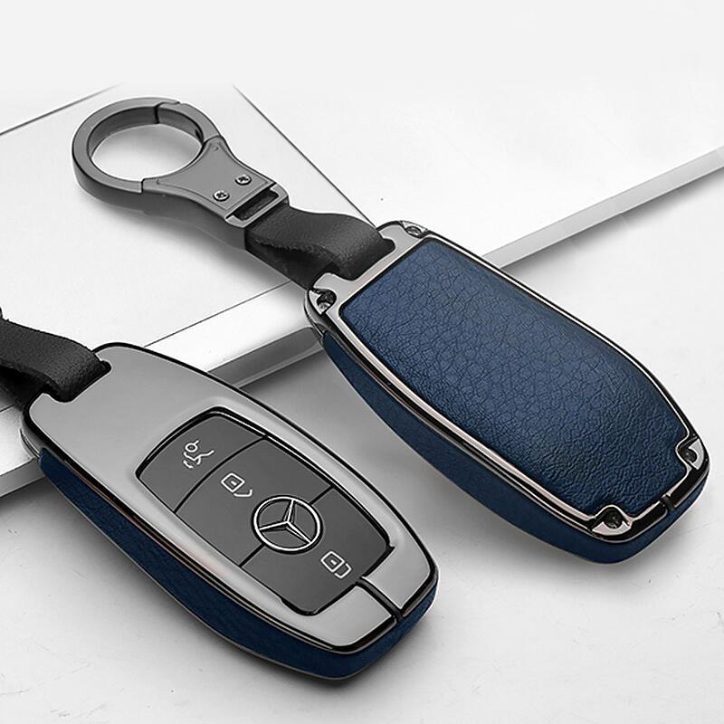 2021款奔馳e300l鑰匙套新E級glc gle豪華款c200l高檔S350車殼扣包