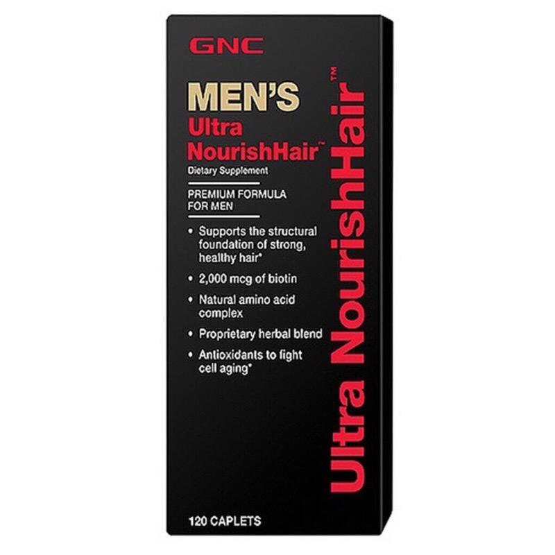 《海王子之家》美國 GNC Men Ultra Nourish Hair 男性頭髮 綜合維他命 120顆