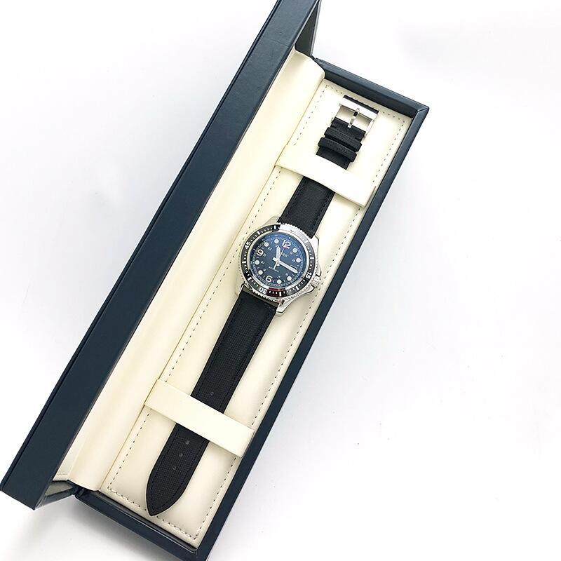 機長同款手表男正品大表盤男士多功能機械外貿批發真皮時尚男表