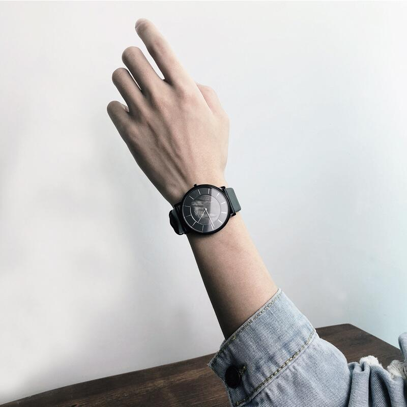 IBSO手表男2019男表新款極簡潮流超薄男士貝殼面防水個性學生韓版