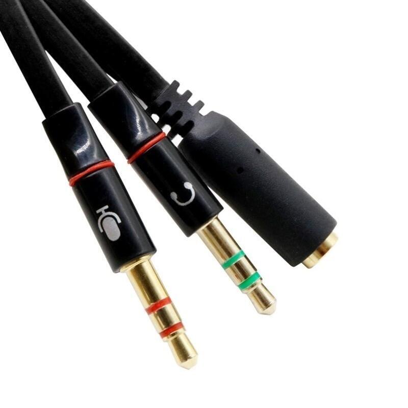 手機麥克風耳機轉換電腦耳麥3.5二合一分線器一分二音頻轉接頭線