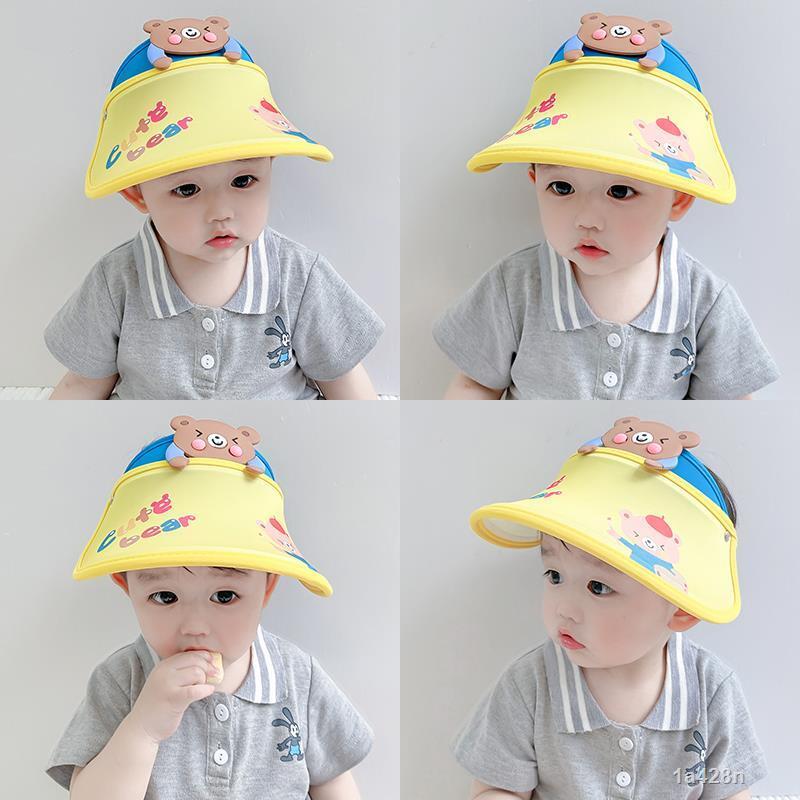男女童寶寶夏天卡通薄款空頂帽透氣出遊防紫外線兒童防曬遮陽帽子