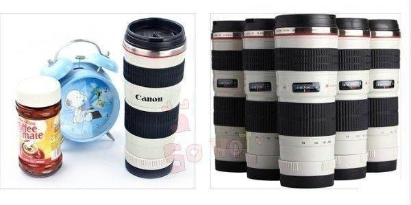 創意鏡頭杯 佳能canon EF 70-200mm 4L 小小白 鏡頭杯子 小白鏡頭 咖啡杯 不鏽鋼保溫杯