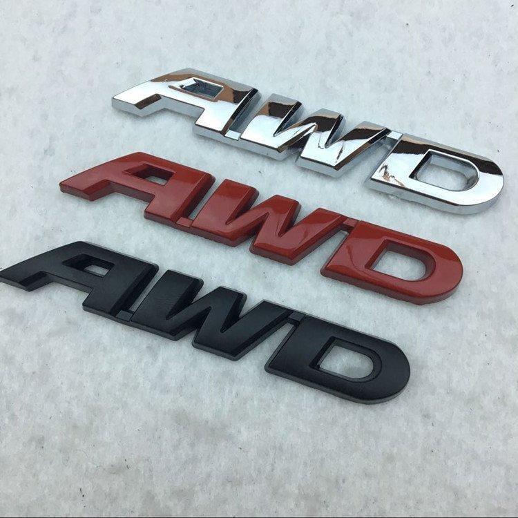 本田新CRV 歌詩圖專用AWD電鍍字母車貼 3D個性車標貼 金屬標改裝