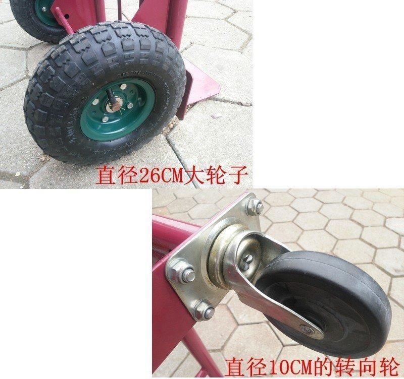 [宇煌直銷]二用載重手推拉桿車載重150~250KG 平板推車手拉車拉桿車載重車老虎車管厚加粗