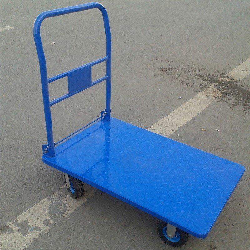 [宇煌直銷]鋼板折疊平板推車載重300kg 手推車 搬運車 手拉車 載重車