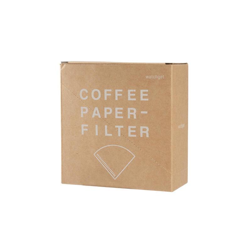 watchget咖啡濾紙錐形過濾紙手衝v60濾杯滴漏式紙100枚帶收納盒