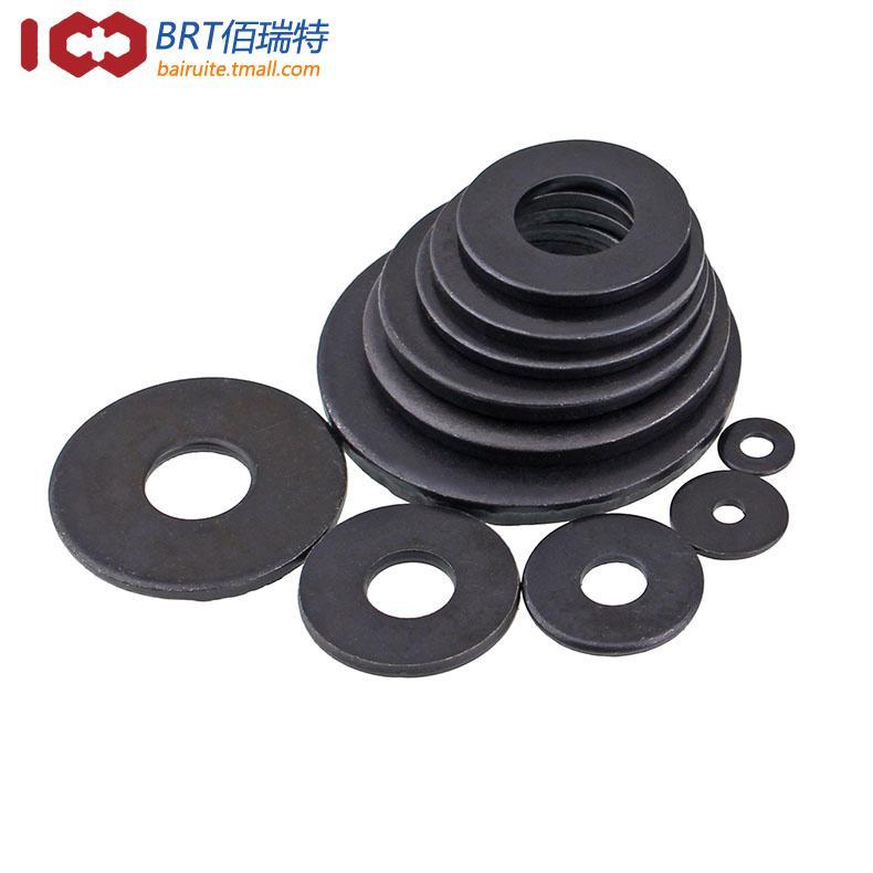 黑色8.8級平墊片平墊圈金屬墊圈加厚墊片超薄墊圈介子華司M3-M20