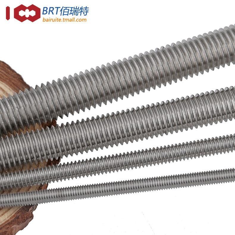 304/316不銹鋼牙條絲桿通絲全螺紋螺桿M2M2.5-M4M5M6M8M10M12-M16