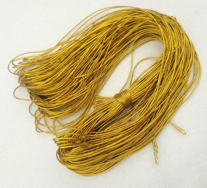 吊牌繩1mm 2mm金色銀色圓彈力線繩1.5MM包芯牛筋彈力線松緊帶3MM