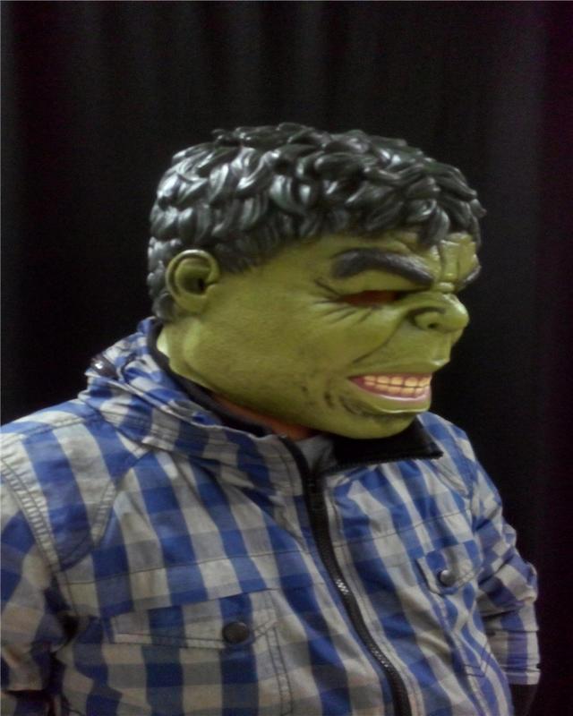 新品熱賣綠巨人面具 復仇者聯盟鋼鐵俠恐怖頭套cos扮演英雄小丑派對道具怪