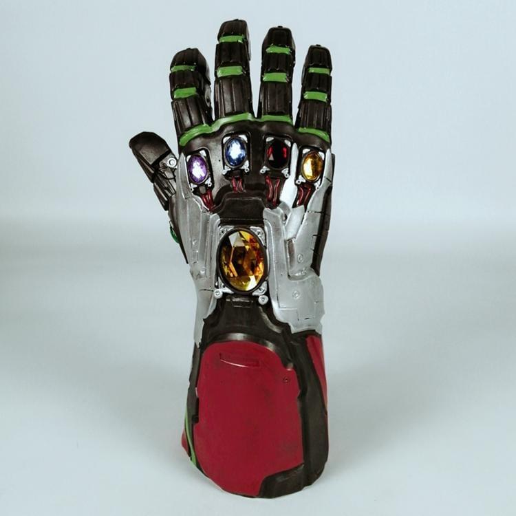 新品熱賣無限手套cos復聯4漫威英雄道具1:1鋼鐵俠手臂套無限滅霸手套發光