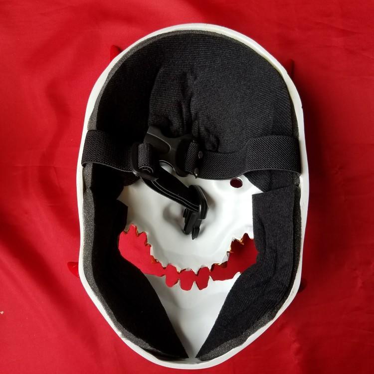 新品熱賣邪鬼面具cos守望源氏頭盔 萬圣節恐怖裝扮日式面罩先鋒 惡魔般若