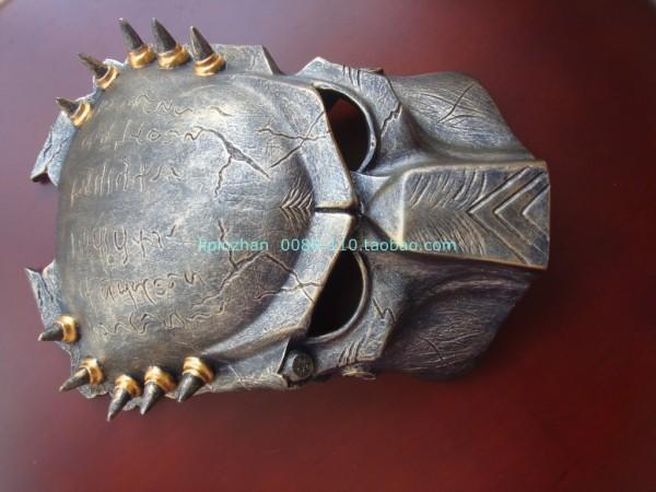新品熱賣鐵血戰士面具 萬圣節恐怖AVP異形獨狼手辦狂戰士cos鐵血戰士面具
