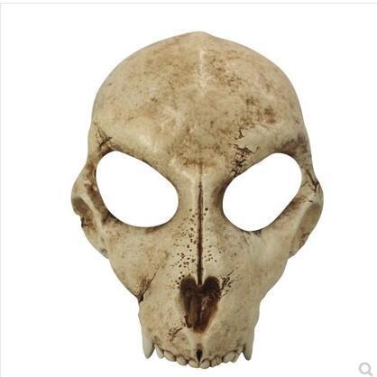 新品熱賣日本狼頭骨面具 萬圣節恐怖玩具娃娃動物骷髏鵺夜叉猛虎 面具龍神