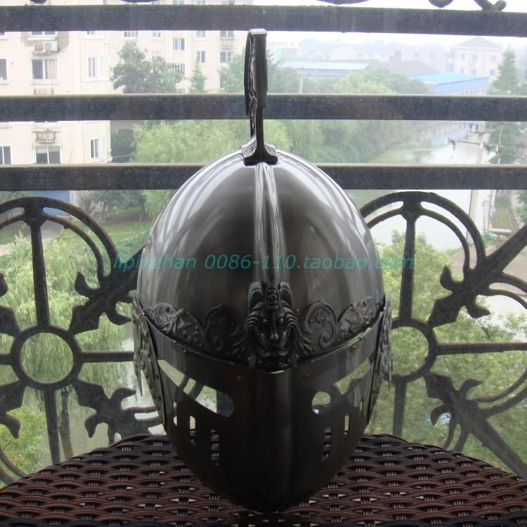 新品熱賣萬圣節恐怖古羅馬頭盔帝國歐洲中世紀全金屬安全鋼鐵盔防護cos武