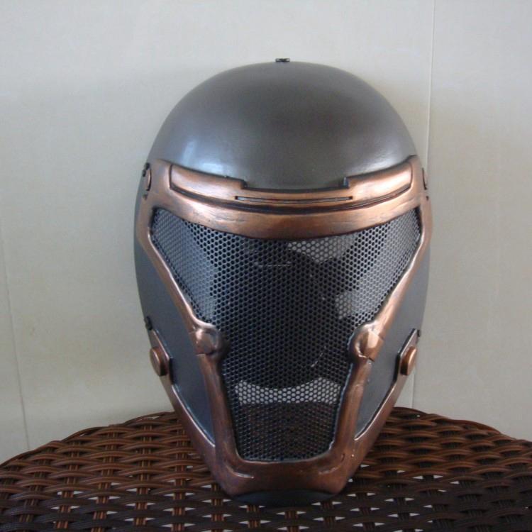 新品熱賣N款 鐵血戰士cos終結者面具CS防護圣殿騎士骷髏小丑恐怖死侍頭盔