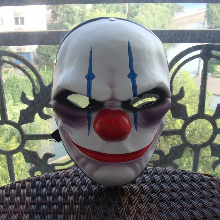 新品熱賣游戲收獲日2面具cos萬圣節 劫匪小丑joker動漫Pay演day收獲日面具
