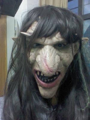 新品熱賣哥布林萬圣節妖怪面具cos魔鬼屋 酒吧恐怖裝飾擺件搞怪 密室逃脫