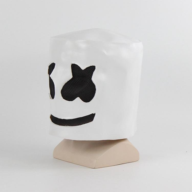 新品熱賣棉花糖Dj頭套音樂節面具cos夜店酒吧直播表演搞笑道具棉花糖面具