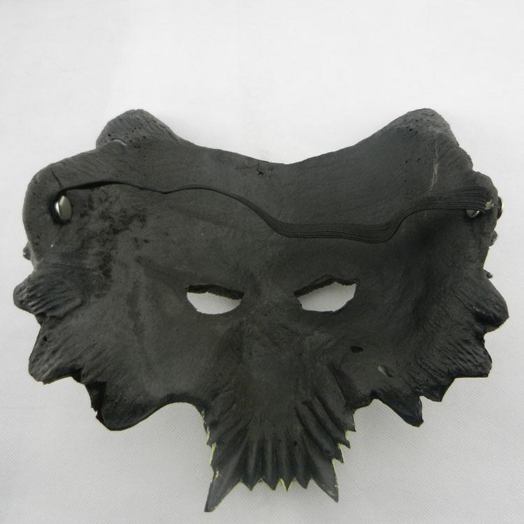 新品熱賣狼面具 萬圣節恐怖裝扮用品道具cos兇惡動物鬼節派對演出蒙面歌王