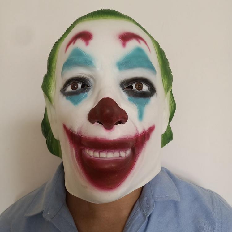 新品熱賣暗黑騎士小丑面具cos萬圣節蝙蝠俠杰克乳膠頭套 表演道具小丑頭套