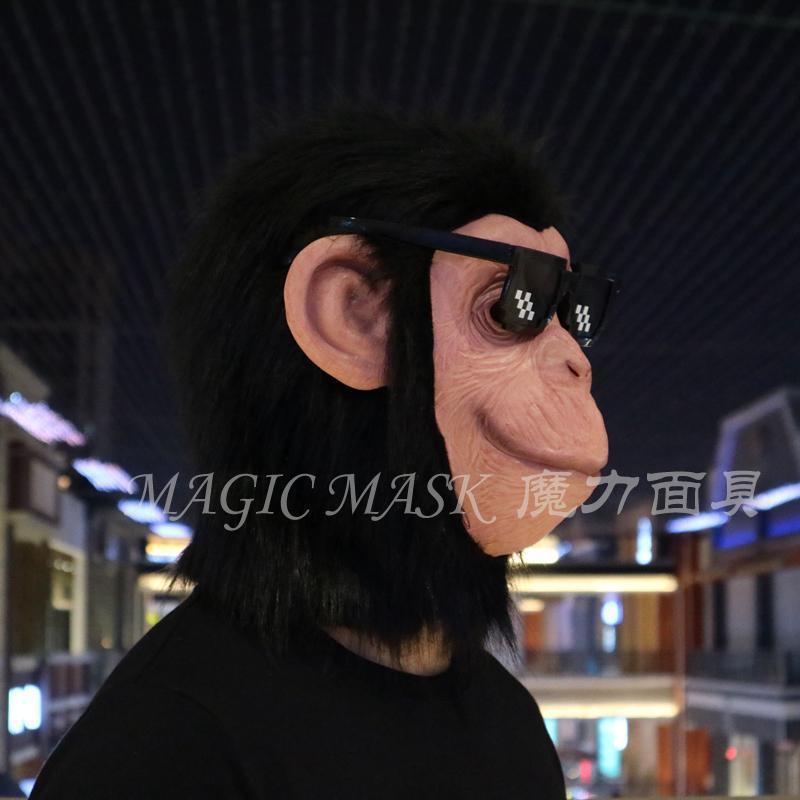 新品熱賣猩猩頭套面具男女cos抖音猴子面具搞笑舞會兒童演出圣誕節道具