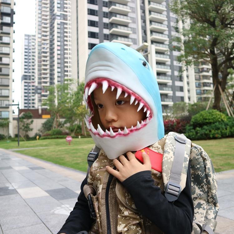 新品熱賣侏羅紀公園2恐龍面具頭套兒童面具乳膠成人萬圣節目派對表演道具