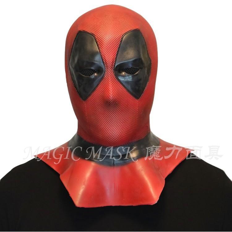 新品熱賣Deadpool死侍面具男女cosplay頭套萬圣節頭盔漫威影視周邊道具