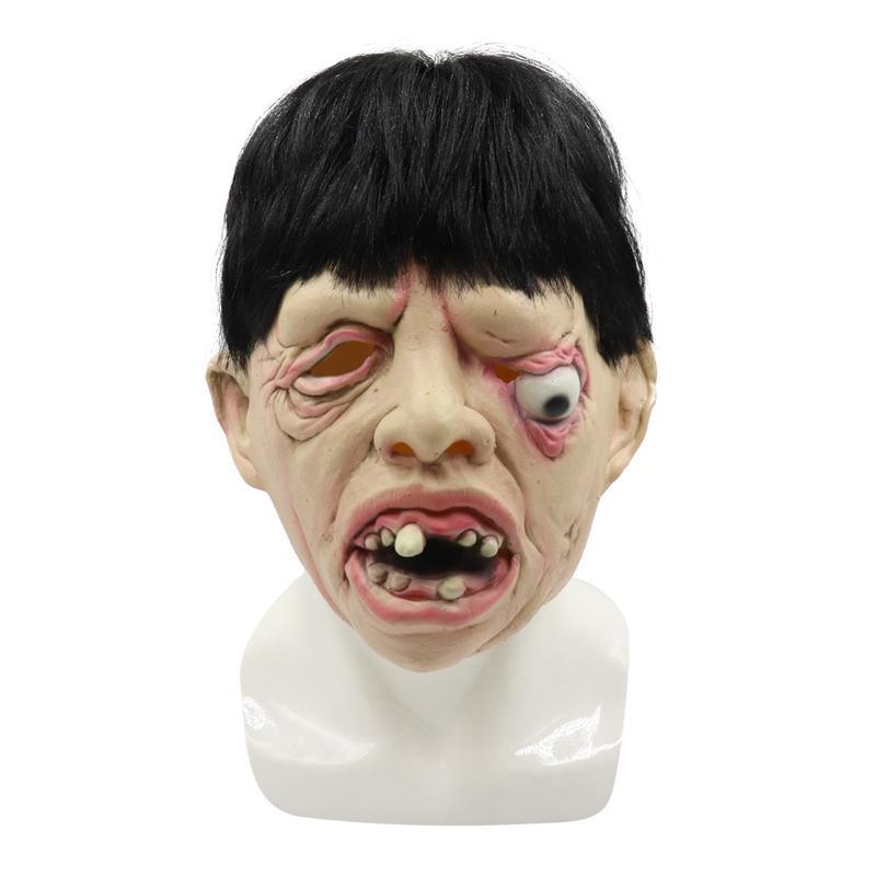 新品熱賣萬圣節化妝舞會乳膠血腥血淋淋女鬼面具長發鬼醫生護士恐怖面具