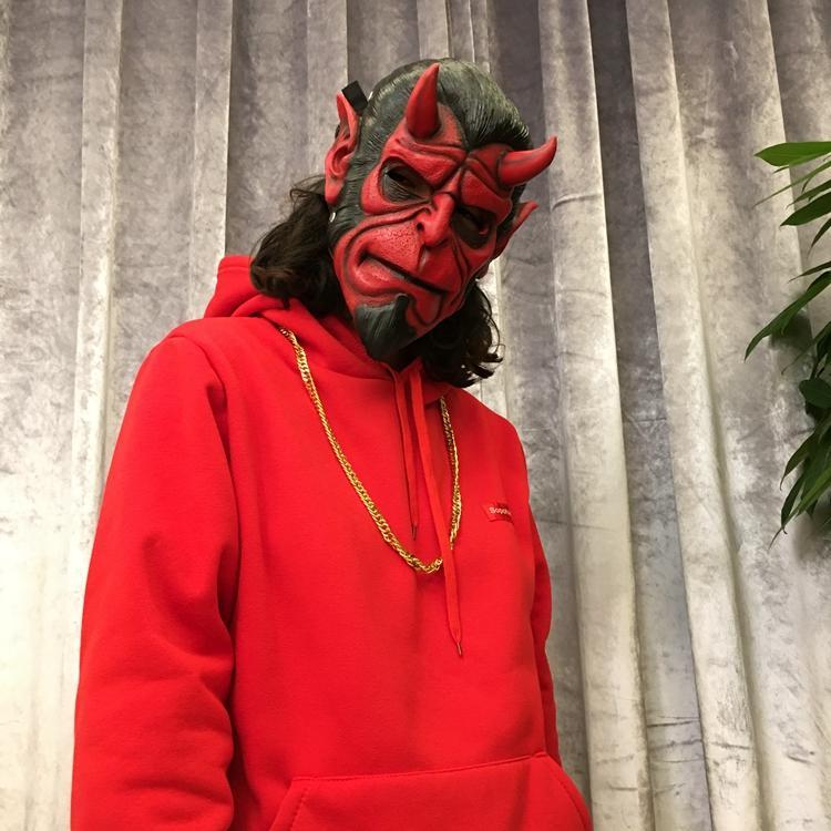 新品熱賣cos地獄男爵面具 萬圣節面具舞會 恐怖逼真魔鬼 手辦模型動漫道具