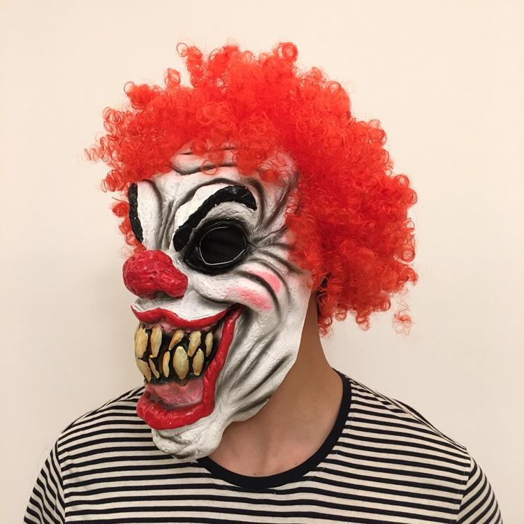 新品熱賣萬圣節面具恐怖頭套鬼嚇人男成人女鬼臉化妝舞會惡魔死神乳膠小丑