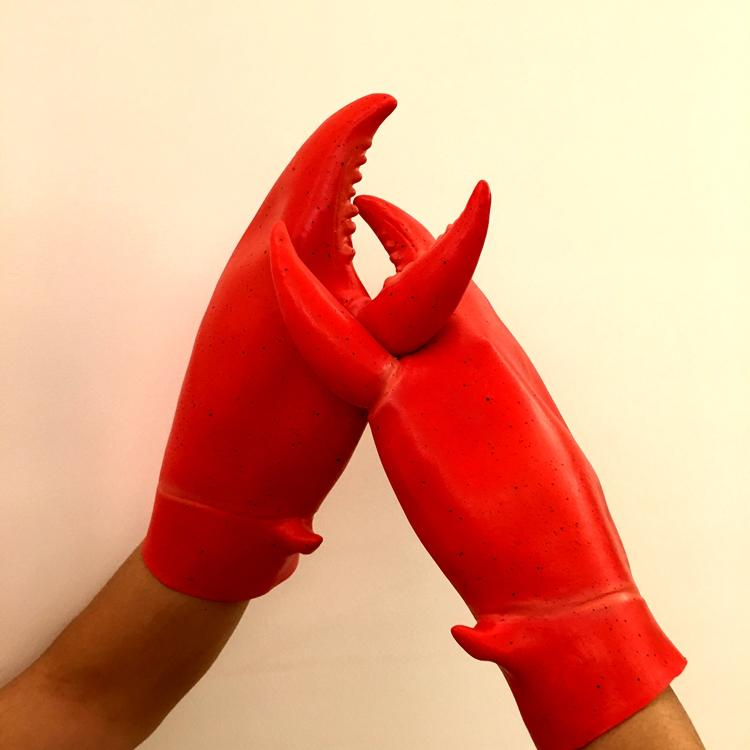 新品熱賣龍蝦螃蟹爪子夾子鉗子手套萬圣節快手直播表演道具配件cosplay