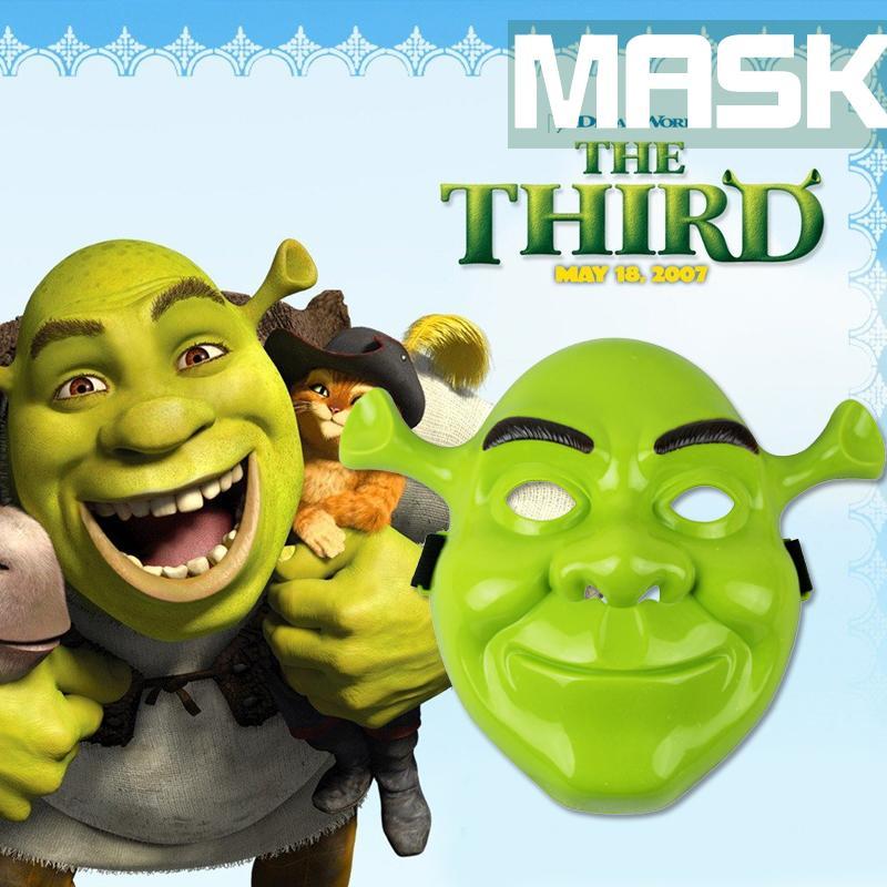 新品熱賣史萊克電影主題面具卡通動漫那女兒童面具萬圣節化妝舞會全臉面具
