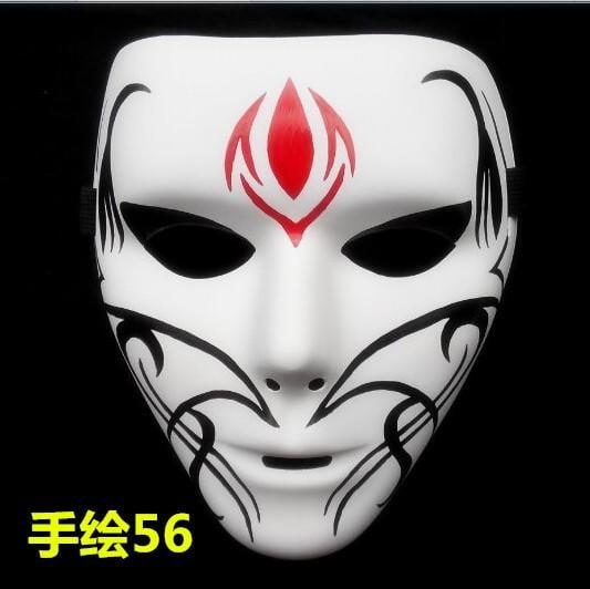 新品熱賣萬圣節鬼面具 萬圣節裝扮面具 恐怖面具 男女通用面具 手繪面具